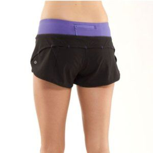 Lululemon Run: Speed Short Black / Persian Purple